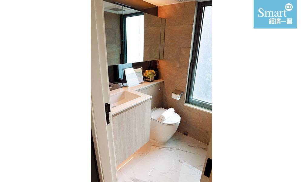 深水埗WEST PARK廁所採乾濕分離設計。