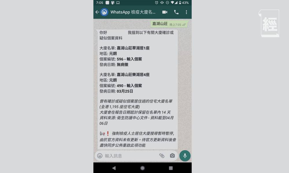用WhatsApp就可以掌握實時疫情 清楚身邊有無確診患者出沒?一文教你簡單免費安裝步驟 內附QR Code