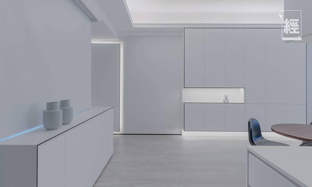 【裝修設計】全白風格裝修過千呎豪宅 設計師以兩招LED燈和色彩搭配 示範「簡約不簡單」高檔次風格