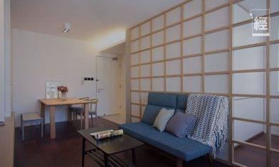 【裝修設計】60萬豪裝393呎居屋單位 活用日式屏風分隔一房兩廳 將和風溫泉旅館融入家中