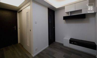【裝修設計】300呎公屋改裝成4房1廳 「雙趟門」令1房變2房 浴室拆牆再建變乾濕分離 免整濕坐廁