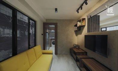 【裝修設計】400呎兩房一廳 全拆變開放式工業風安樂窩 10個地台加強收納+升降茶几