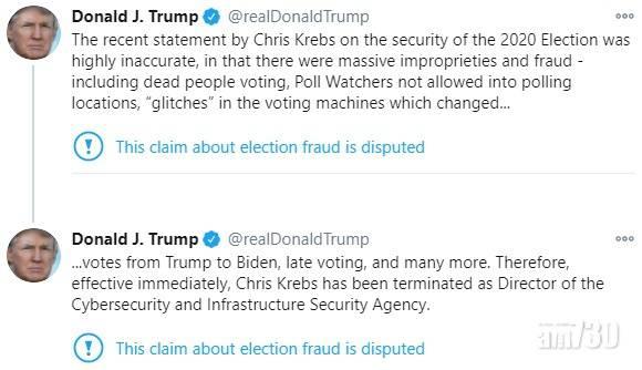 【美國大選】特朗普解僱負責大選網絡保安的網絡安全局局長