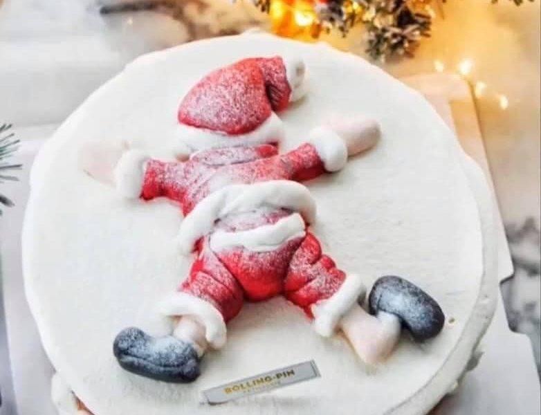 【網上熱話】聖誕蛋糕融了氣氛全變  網民︰是誰殺了聖誕老人