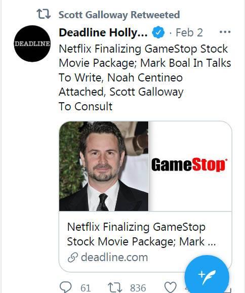 GME事件登上大營幕! Netflix籌辦GME真人真事改編電影 演員名單:鎖定荷利活兩大型男