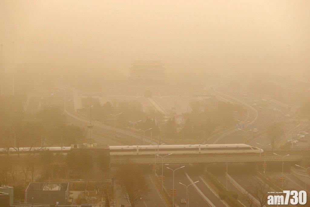 十年最強沙塵暴侵襲 北京PM10爆錶空氣嚴重污染