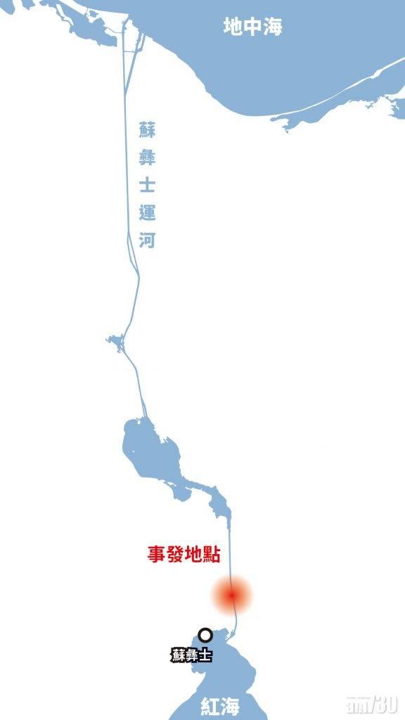 亞歐非海運要道中斷 長榮巨輪擱淺蘇彝士運河