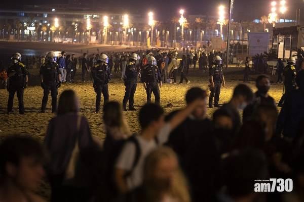 新冠肺炎│西班牙結束6個月晚間宵禁  民眾湧上街開派對慶祝
