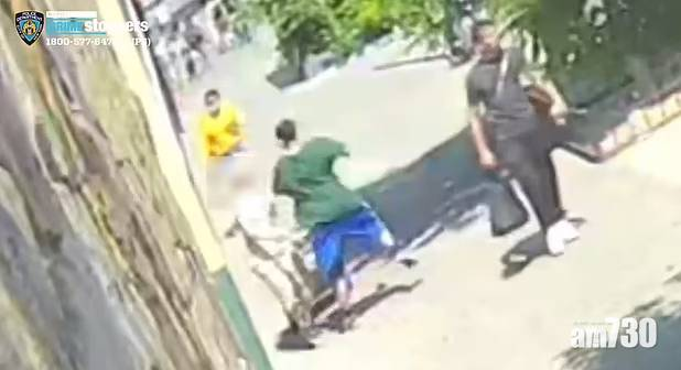 針對亞裔暴力 紐約唐人街亞裔婦  遭黑人男兜口兜面揮拳打昏 (有片)
