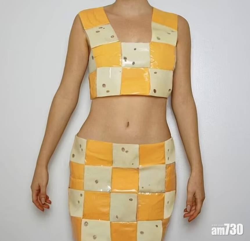 創意無限 加國藝術系女生炮製型格服飾  材料只係……