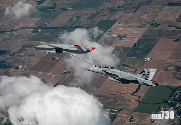 創先河|美海軍首使用無人駕駛機  半空為戰機加油