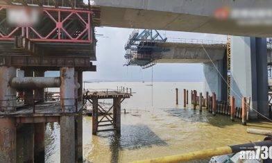 珠海興建中大橋塌箱梁 5工人墮海2死3失蹤