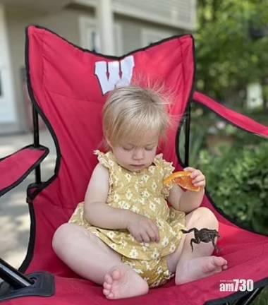 網上熱話 1歲B女食橙卻突「啜」蟾蜍嚇親阿媽 網民讚佢好cute (有片)