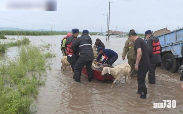 內蒙古暴雨致兩水庫決堤 道路橋樑沖毀