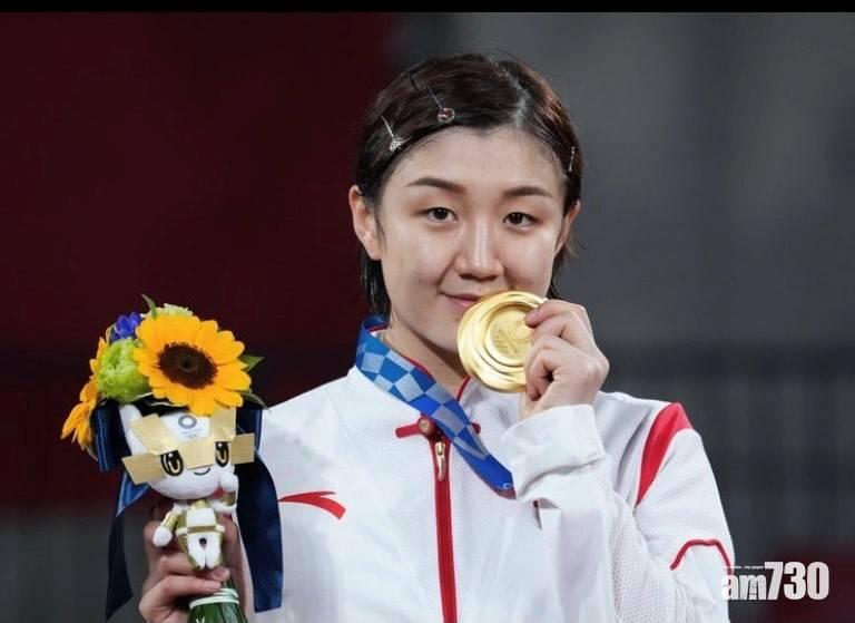 東京奧運  黃曉明表妹陳夢奪金  笑言要抽水:「蹭一下我們家冠軍的熱度」