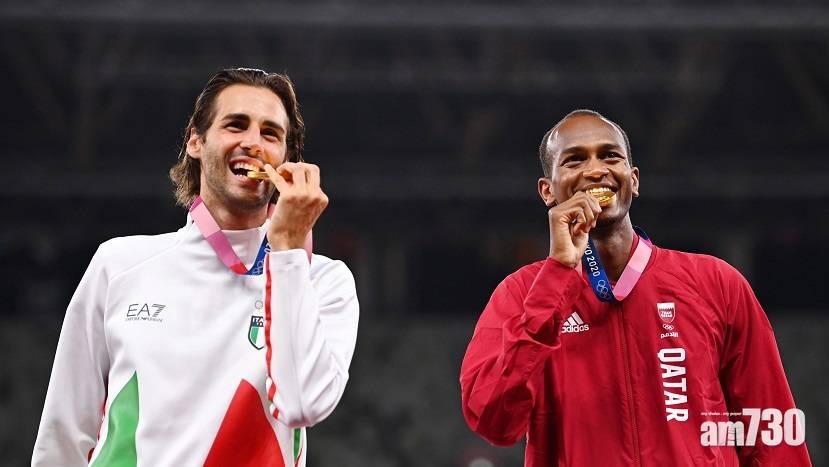 東京奧運 跳高兩選手「打和啦」瓜分金牌百年首見 感人抑或有違公平競技?
